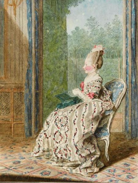 Qui sont les personnages peints sur ce tableau de Jean-Baptiste-André Gautier Dagoty ? 452px-Carmontelle_-_The_Princess_of_Lamballe