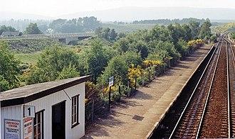 Carrbridge railway station - Image: Carr Bridge station down geograph 3101482 by Ben Brooksbank
