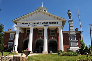 Carroll County, Virginia - Image: Carroll County Court Front