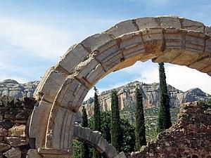 """Ruines of the carthusian monastery """"Cartoixa d'Escaladei"""""""