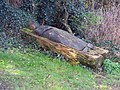 Carved fallen tree outside churchyard of St Mary's Church Latton - geograph.org.uk - 373544.jpg