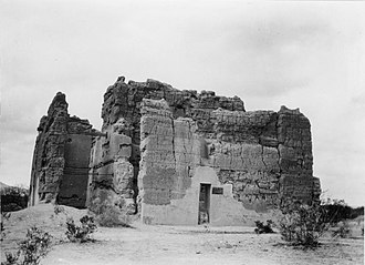Casa Grande Ruins National Monument - Image: Casa Grande. The east side of the Casa Grand ca. 1900