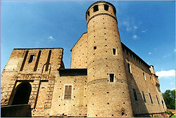 The 12th century castle of Calendasco.