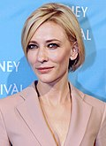 Photo o actress Cate Blanchett at the 2011 Sydney Film Festival.