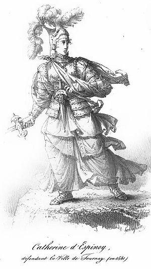 Catherine d'Espinoy défendant Tournay en 1581