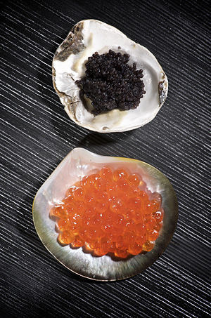 Caviar - beluga and salmon