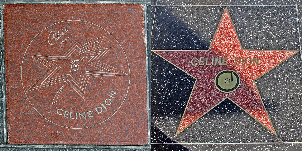 Celine Dion both walk of fame stars