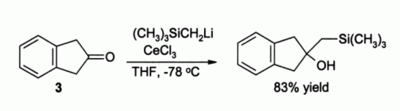 CeCl3 directed alkylation reaction