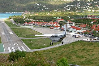 airport in St. Jean, Saint Barthélemy island