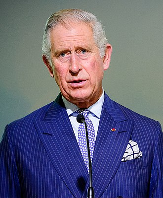 Charles, Prince of Wales - Charles wearing the ribbon of the Grand Cross of the Legion of Honour at the 2015 United Nations Climate Change Conference in Paris
