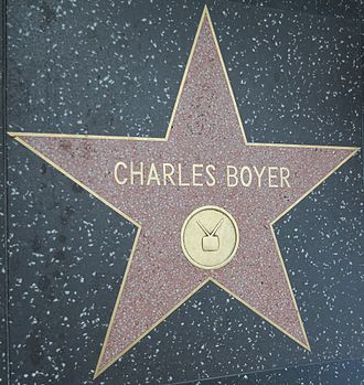 Charles Boyer - Star on the Hollywood Walk of Fame at 6300 Hollywood Blvd.