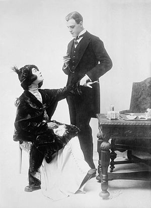 Alla Nazimova - Nazimova and actor Charles Bryant in 1912.