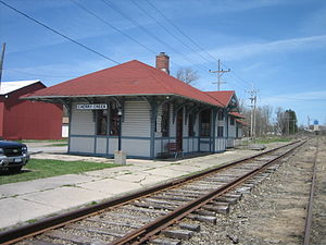 Cherry Creek, New York - Cherry Creek station for the Buffalo and South Western Railroad