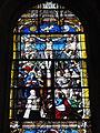 Chevrières (60), église Saint-Georges, verrière n° 0 - Crucifixion et Résurrection du Christ 1.JPG