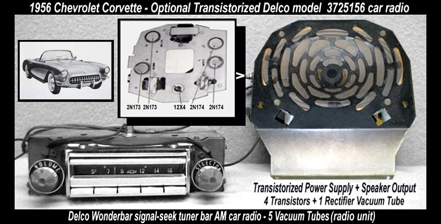 Chevrolet Corvette Transistorized Hybrid Car Radio-1956