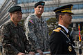 Chief of Staff of the U.S. Army Gen. Raymond T. Odierno, center, and Chief of Staff of the Republic of Korea Army Gen. Kwon Oh-sung, left, are driven around an honor guard ceremony Feb. 24, 2014 140224-A-KH856-602.jpg
