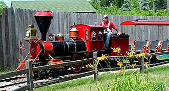 Children's Zoo at Celebration Square - The Iberschoff Special, a miniature train at the zoo