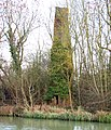 Chimney beside the Grand Union Canal, Stockton - geograph.org.uk - 1129375.jpg