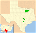Chorioactis geaster distribution in Texas.png
