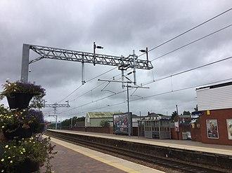 Chorley railway station - Chorley Railway Station undergoing electrification work 27 August 2018