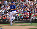 Chris Young delivers a pitch (25713886625).jpg
