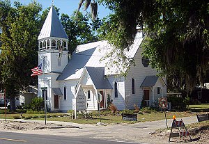 Carpenter Gothic - Christ Church, Fort Meade, Florida