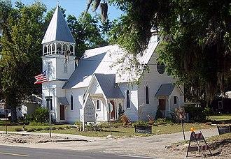 Carpenter Gothic - Christ Church, Fort Meade, Florida