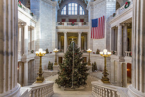 Lincoln Chafee - The Rhode Island State House Christmas tree