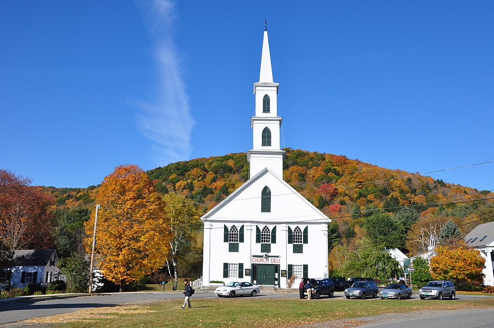 Church in Newfane, Vermont fall 2009