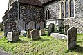 Church of St Nicholas, Ash-with-Westmarsh, Kent - churchyard barrel tombs 01.jpg