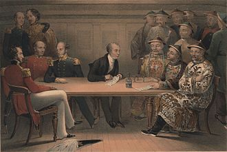 Thomas Maitland, 11th Earl of Lauderdale - Capt. Maitland (top left) at the Chusan conference on board HMS ''Wellesley'' on 4 July 1840