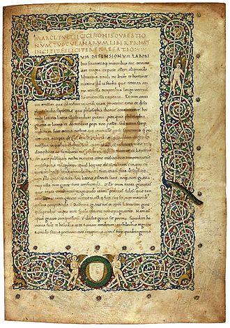 Tusculanae Disputationes - Tusculanae Disputationes illuminated manuscript