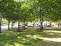 Circular picnic benches in St George's Square - geograph.org.uk - 979478.jpg