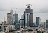 City of London skyscrapers from the terrace of the White Collar Factory, Old Street, 2018-09-22.jpg