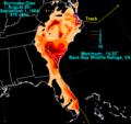 Cleo 1964 rainfall.png