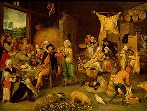 Marten van Cleve - A Flemish household, c. 1555-60