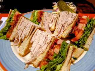 Club sandwich type of sandwich