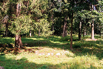Yotvingians - A Yotvingian kurgan in the area of Suwałki