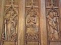 Co-cathédrale N.D. de Bourg-en-Bresse (Stalles- Ste-Catherine, St-Jean l'Evangéliste et St-Louis-d'Anjou).jpg