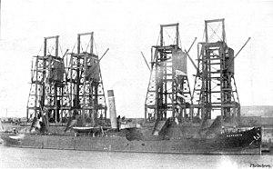 Penarth Dock - Loading a coal ship at Penarth in 1905