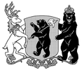 Coat of arms of Yaroslavl Oblast (without hat, monochrome).png