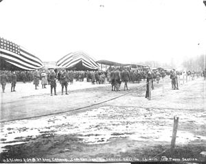 Third Army Air Service - Hangars and aircraft on display at the Coblenz Aviation Show,  April 1919