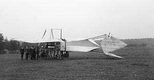 Cody monoplane - Rear view of the Cody IV, showing the tail surfaces