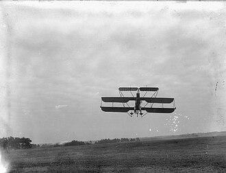 Cody V biplane - Cody V in flight