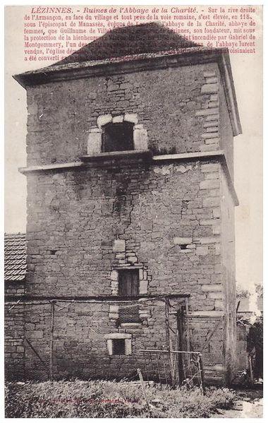 Colombier. Vestige de l'abbaye de la charité.  89160 Lézinnes