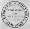 Columbia College Library bookplate.png