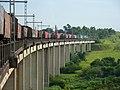 Comboio que passava sentido Boa Vista pelo viaduto ferroviário no vale do Córrego Guaraú em Salto - Variante Boa Vista-Guaianã km 204 - panoramio.jpg