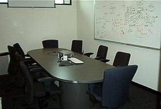 Meeting - Meetings sometimes take place in conference rooms