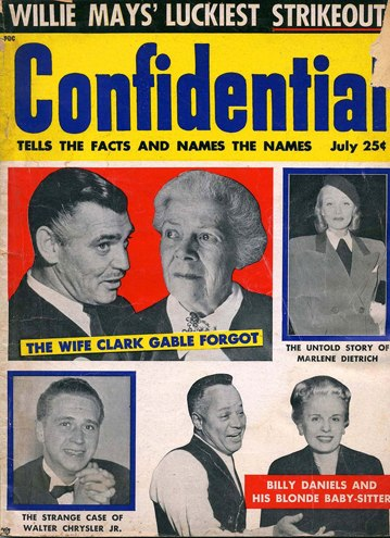 Confidential Magazine cover July 1957