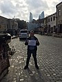 Congratulations to Serbian Wikipedia from Azerbaijan (Old City, Baku).jpg